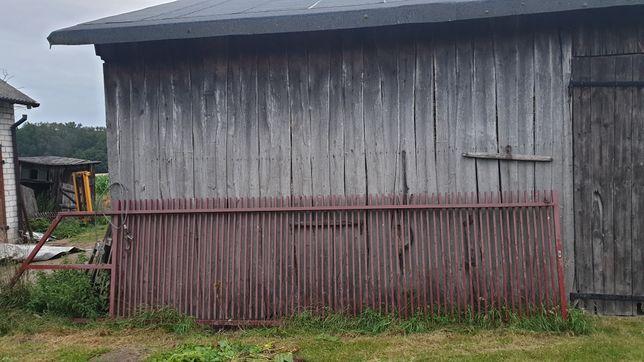 Brama przesuwna solidna masywna Tanio 7,6 metrów cała 5,7 metrów świat