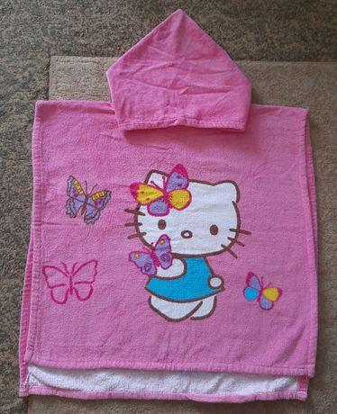 Пляжное полотенце с капюшоном, пончо