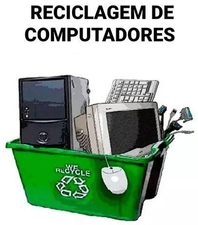 Reciclagem de Computadores, portáteis, monitores, Recuperaçao de Dados