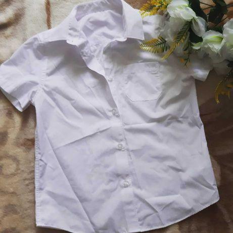 рубашка белая 15-16л