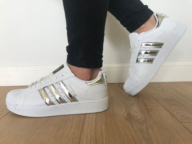 Adidas Superstar. Rozmiar 37. Białe - Srebrne paski. Super cena!