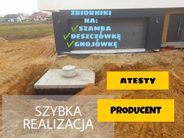 Szamba betonowe od producenta montaż 4-12m3 SZYBKO szamba zbiornik