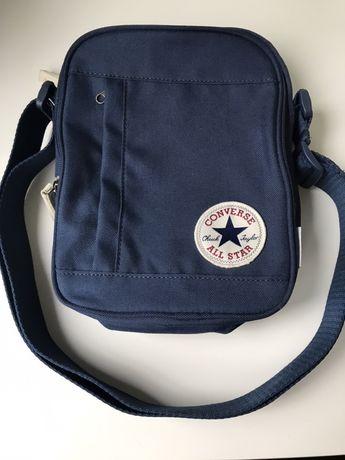 Спортивная сумка синяя converse core cross body bag