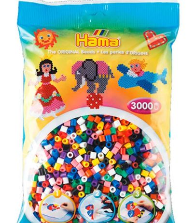 Набор Hama Midi Цветные бусины 10 цветов 3000 шт