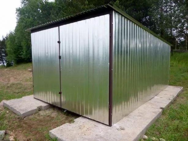 Garaż blaszany blaszak 3x5 ocynk PRODUCENT blaszaki garaże WZMOCNIONE