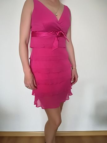 Fuksja sukienka komunia xs
