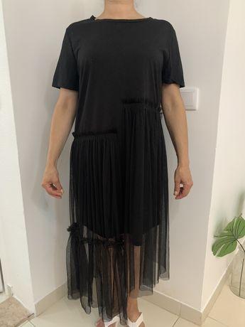 Vestido Preto com rede