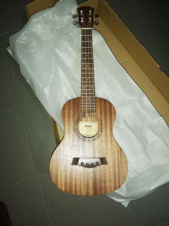Ukulele tenor madeira maciça