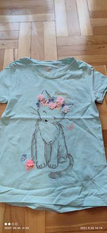 T-shirt niebieski rozmiaru 128