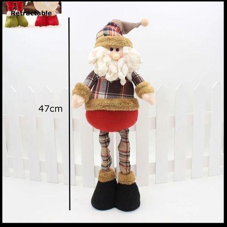 Новогодняя игрушка Санта Дед мороз на растущих ножках