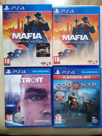 Mafia definitve edition, God of War, Detroid Become Human. Gry na PS4