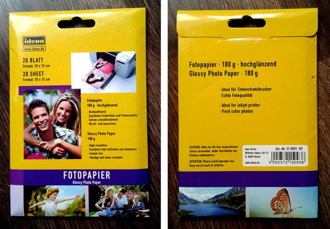 Papier fotograficzny 180g 10x15 glossy do drukowania - Opak. nowe