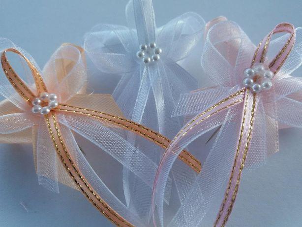 kotyliony bukieciki przypinki ślub wesele komplet 10szt