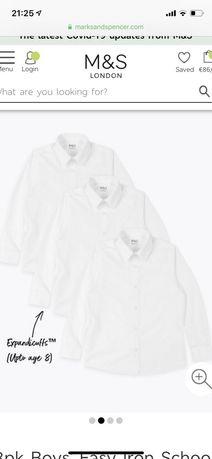 Детские рубашки Marks & Spencer, цена за три штуки 450 гривен