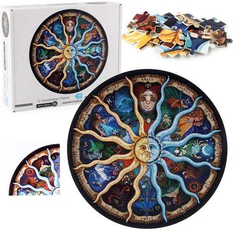 Puzzle dla dorosłych 3D - Okrągłe JIGSAW - ZODIAK