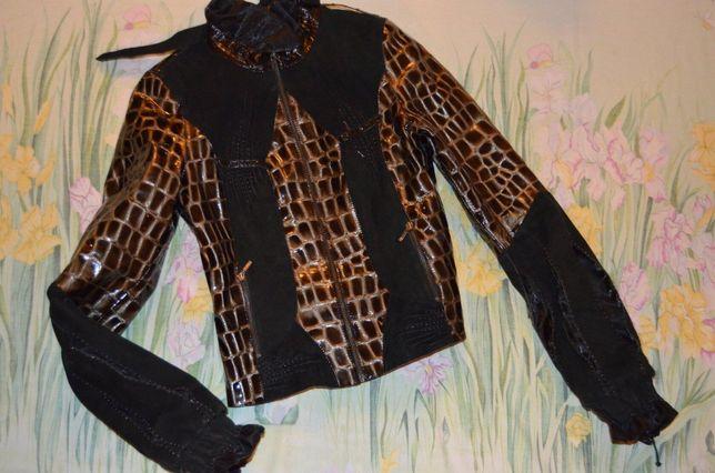Кожаная куртка размер С (42-44)