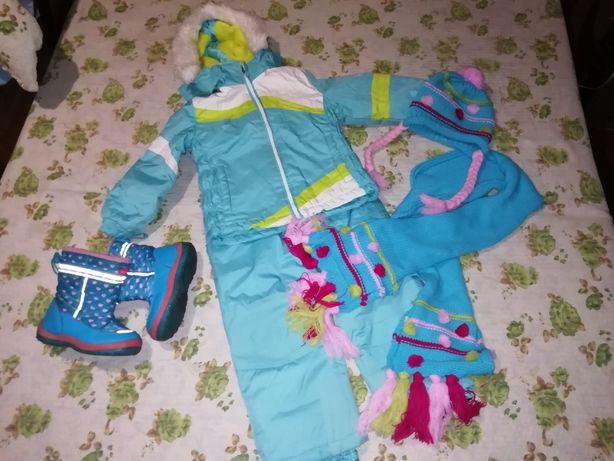 Зимний термокомплект(куртка,комбинезон) WHEATHERPROOF, термосапоги BG