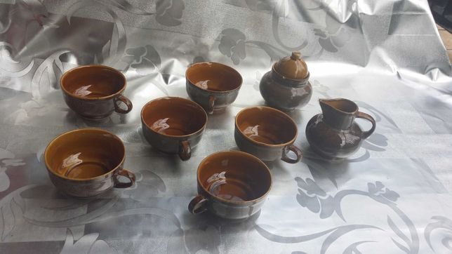 """Zestaw do kawy lub herbaty """"Nefryt"""" lata 60"""