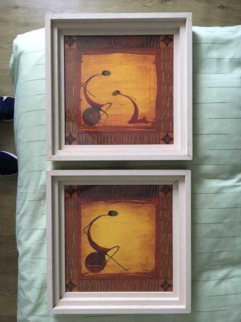 Conjunto de quadros quadrados 37.5cm x 37.5cm