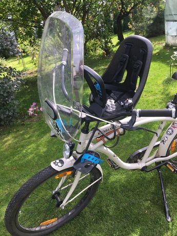 Przedni fotelik rowerowy Thule Yepp next mini z szybą