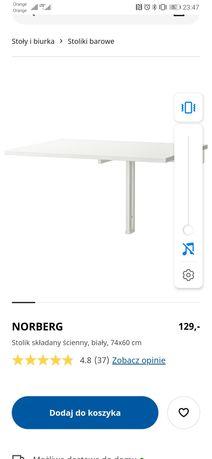 Stolik składany ścienny Norberg IKEA