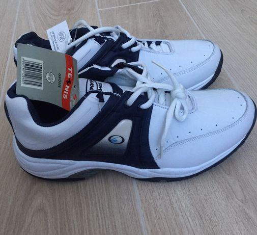 Новые мужские кроссовки, натуральная кожа 44-45р