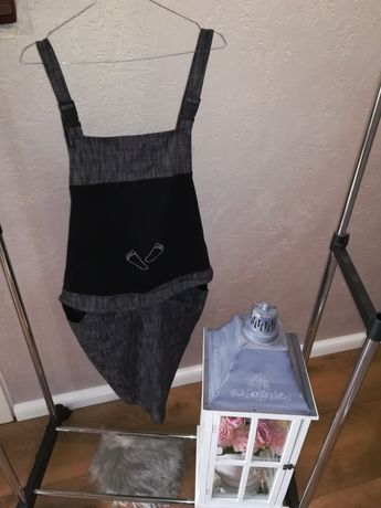 Komplet ciążowy spódnica na szelkach