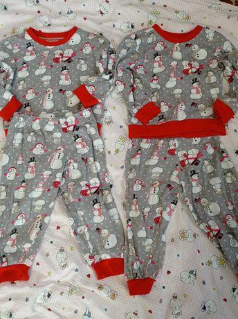 Піжама новорічна для двійні 86 -92