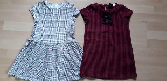 2 nowe sukienki 5-6lat h&m
