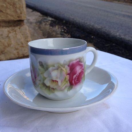 Conjunto de Chávenas Chá Pintadas Mão