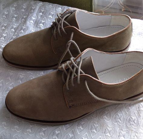 Туфли из натурального нубука.