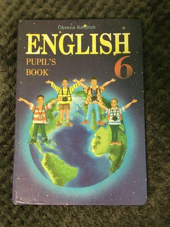 Англійська мова, підручник для 6 класу, автор О.Карп`юк