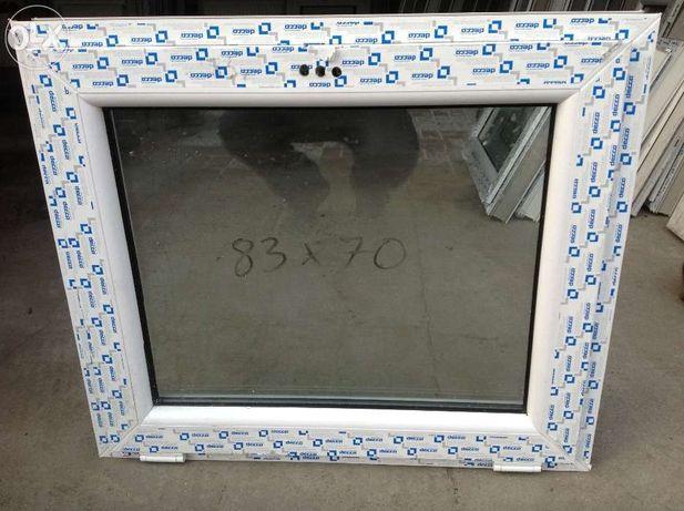 okno pcv 80x60 białe tania wysyłka od ręki nowe
