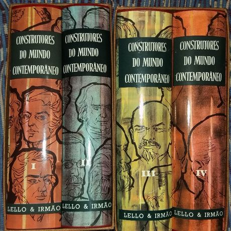 Construtores do Mundo Contemporaneo - 4 Volumes edição: Lello Editores