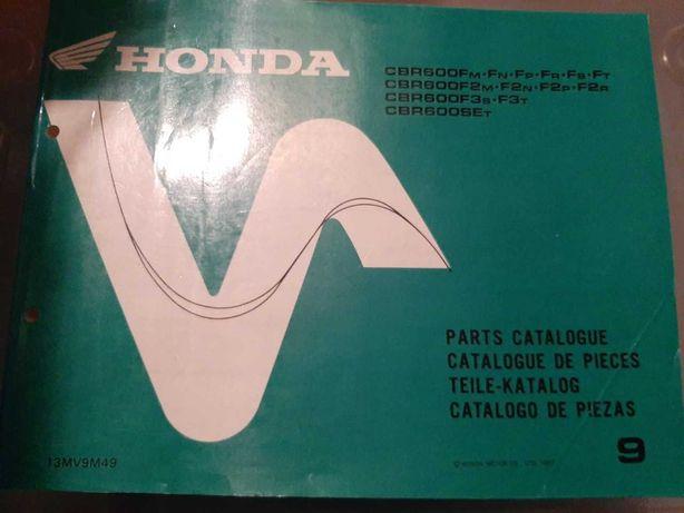 Honda CBR600F Livro de Peças 91-96