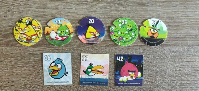 Voa tazos e autocolantes Angry Birds