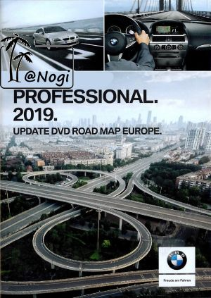 BMW GPS DVD Road Map Europe Profissional 2019 EUROPA