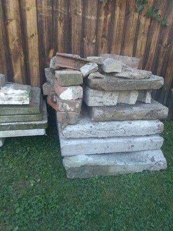 Płyty betonowe, parapety lastrykowe stare