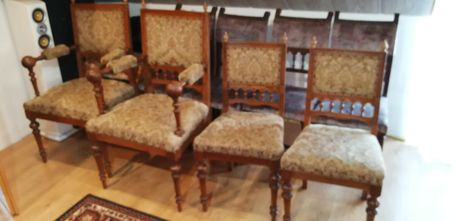 Komplet mebli - stół. 2 krzesła, 2 fotele