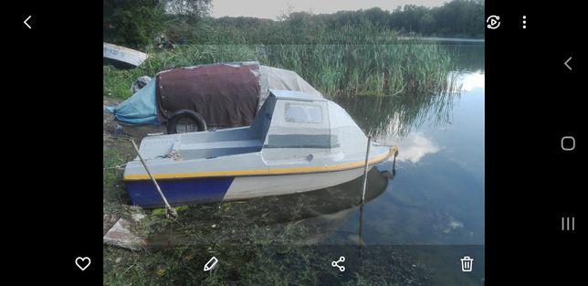 Łódka / łódź wędkarska kabinowa