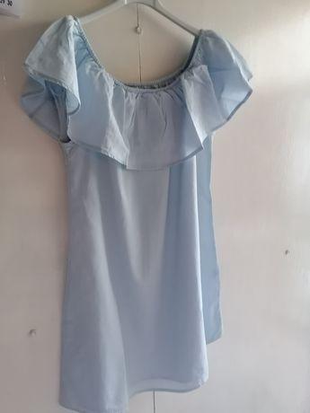 Vestido azul senhora