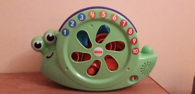 Zabawka interaktywna Fisher Price Ślimak sorter klocki