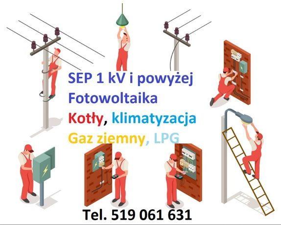 W SEP uprawnienia elektryczne 1kV gazowe G1/2/3 kurs ONLINE Gwarancja