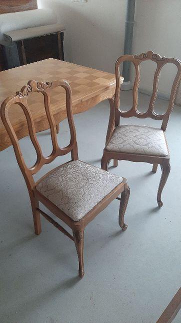 Stół ludwikowski z 6 krzesłami