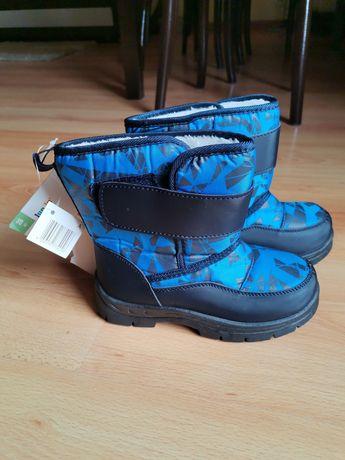 Śniegowce buty zimowe na śnieg na rzep rozmiar 28