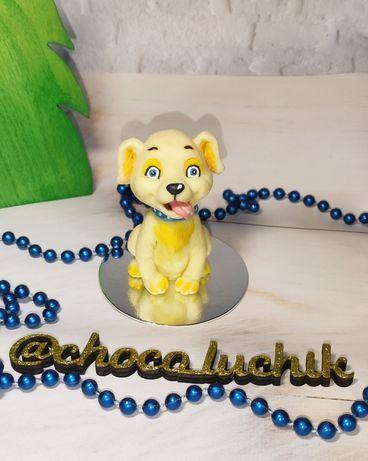 Подарочная шоколадная фигурка собаки