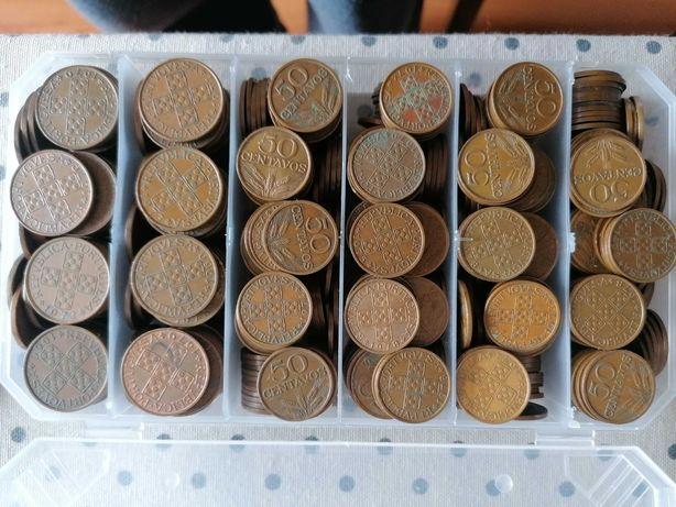 Moedas 50 Centavos 1 Escudo