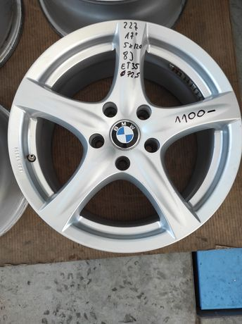 227 Felgi aluminiowe BMW R 17 5x120 otwór 72,5 Bardzo Ładne