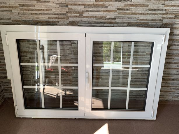 Porta entrada e janela vidro duplo branco