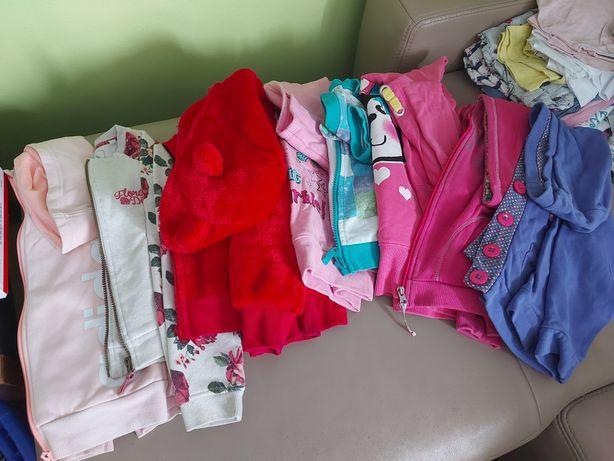 Dziewczynka bluzy bluzki spodnie swetry 122/128